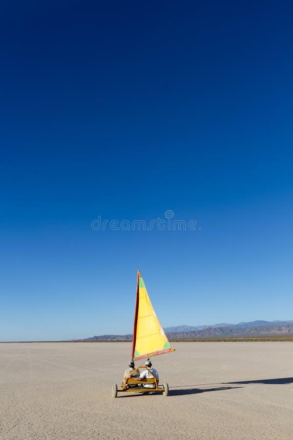 Plażowy żeglowanie powozik na Pampa El Leoncito, Argentyna zdjęcie stock