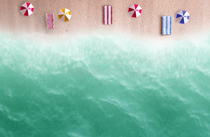 Plażowy abstrakcjonistyczny widok obraz royalty free