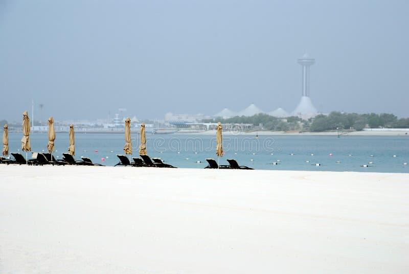 plażowy abu dhabi obraz stock