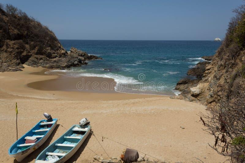 Plażowy błękitny oceanu playadelamor fotografia stock