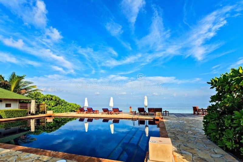 Plażowy basen zdjęcia royalty free