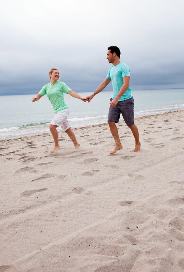 plażowy bieg obraz royalty free