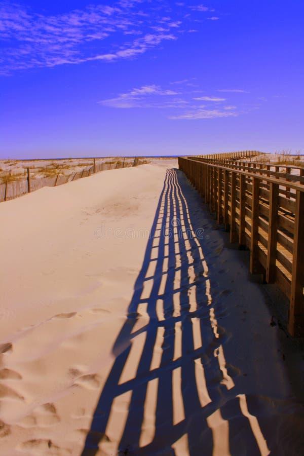 plażowy boardwalk fotografia stock