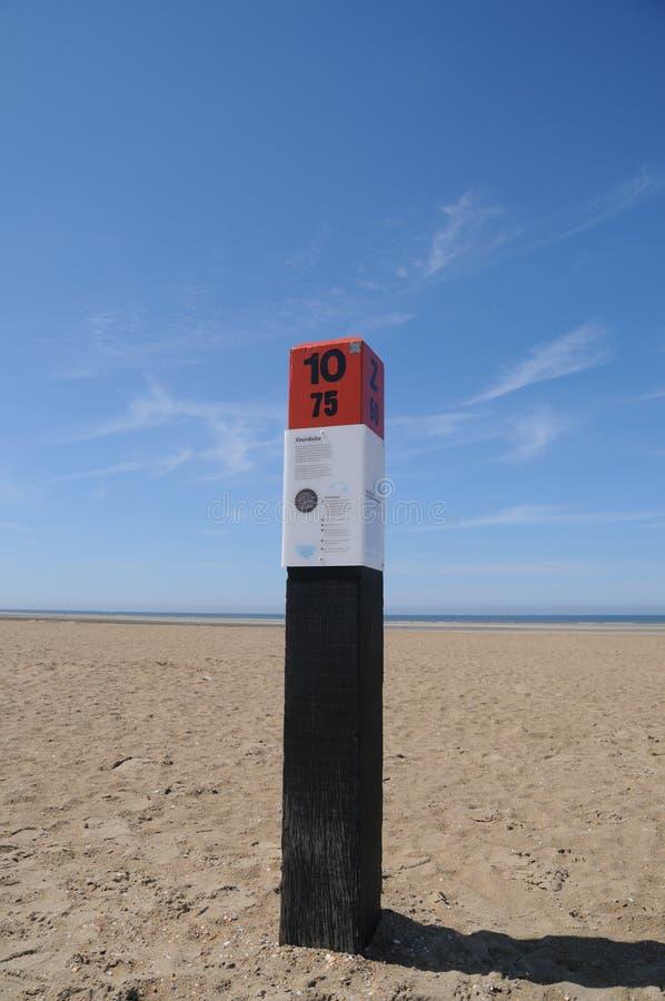 plażowy brzegowy holenderski słup zdjęcie royalty free