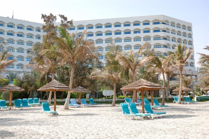 plażowy budynku hotelu luksus obraz stock