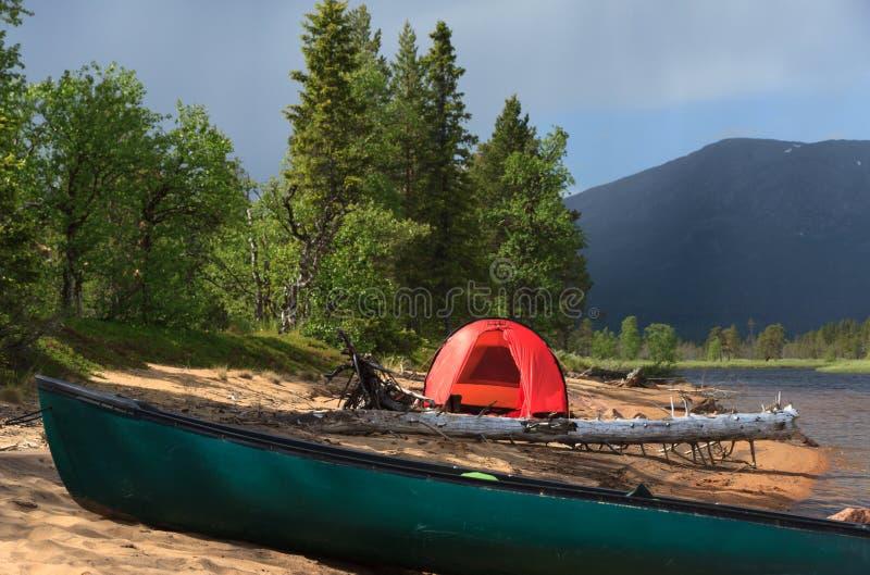 Plażowy campsite fotografia royalty free