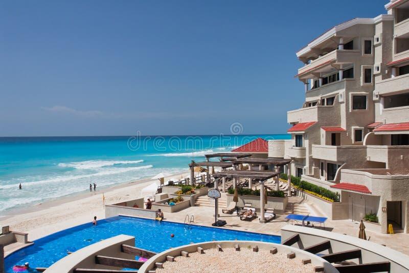plażowy Cancun Mexico zdjęcia royalty free