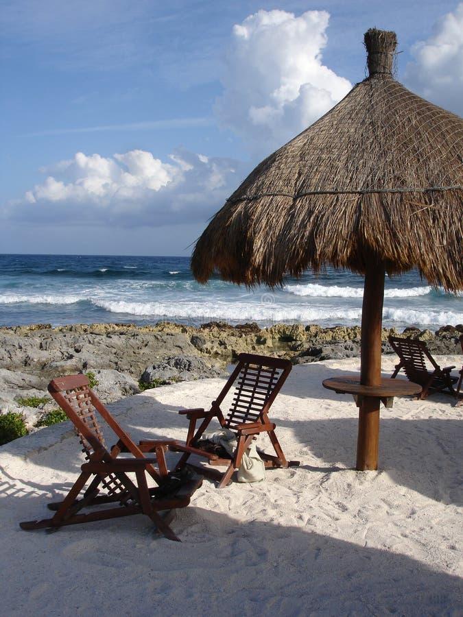 plażowy Cancun Mexico obrazy royalty free