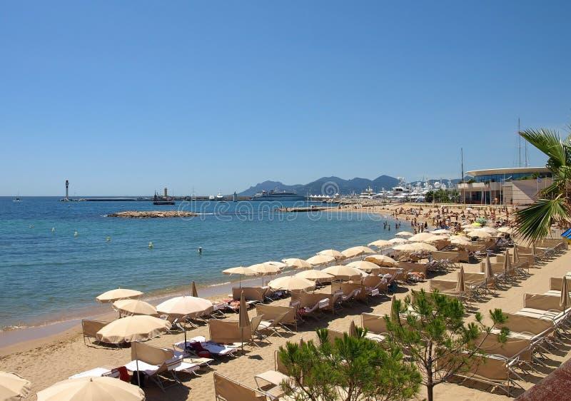 plażowy Cannes zdjęcie royalty free