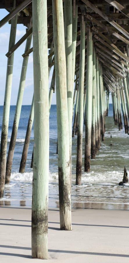 plażowy Carolina północy molo fotografia royalty free