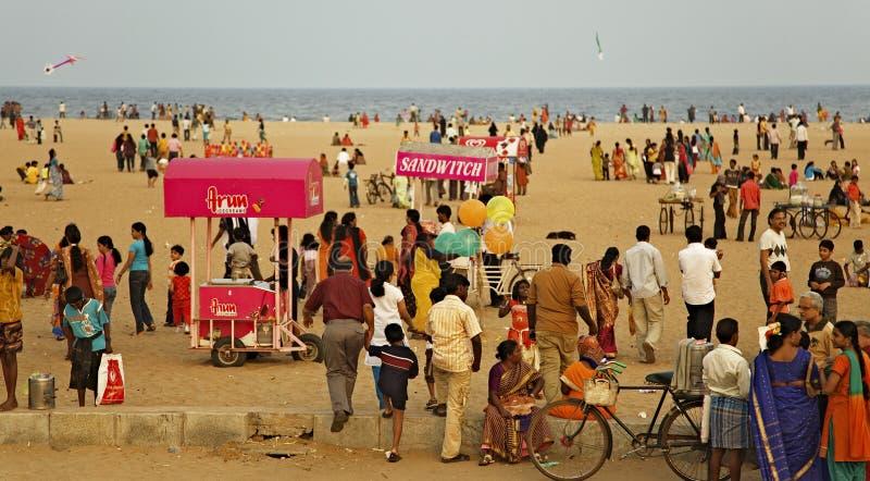 plażowy chennai ind marina zdjęcia stock