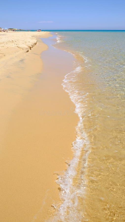 Plażowy Chia w Sardinia, Włochy fotografia royalty free