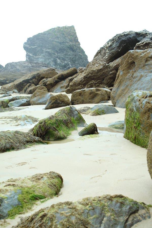 plażowy cornish obrazy stock