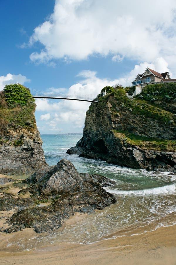 plażowy Cornwall England newquay obraz stock