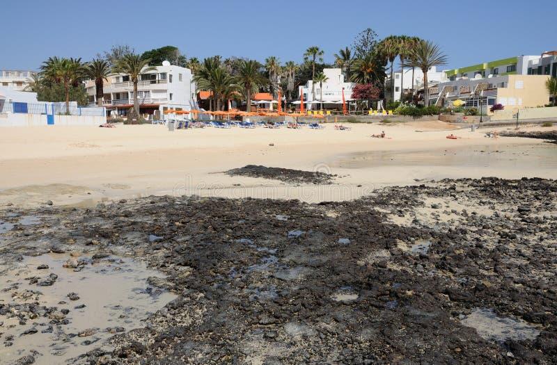 plażowy corralejo Fuerteventura Spain obraz stock