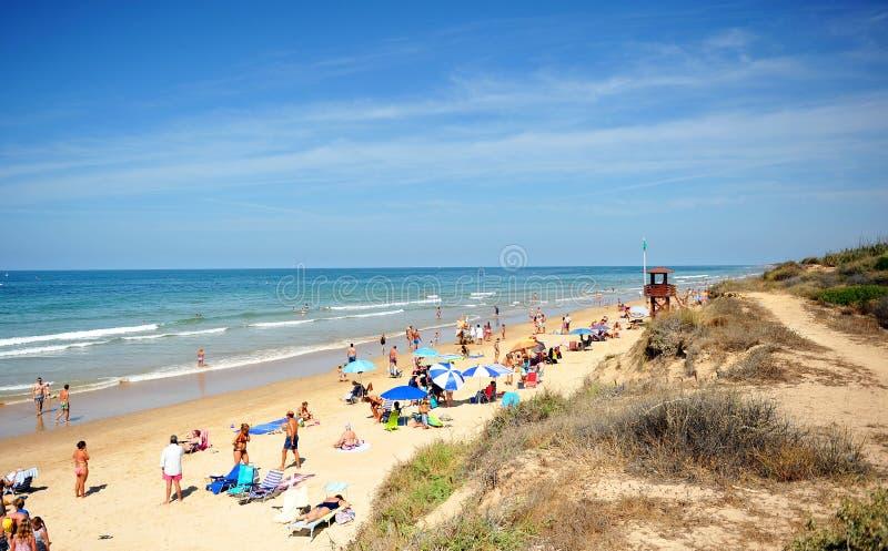 Plażowy Costa Ballena, Cadiz prowincja, Hiszpania fotografia stock