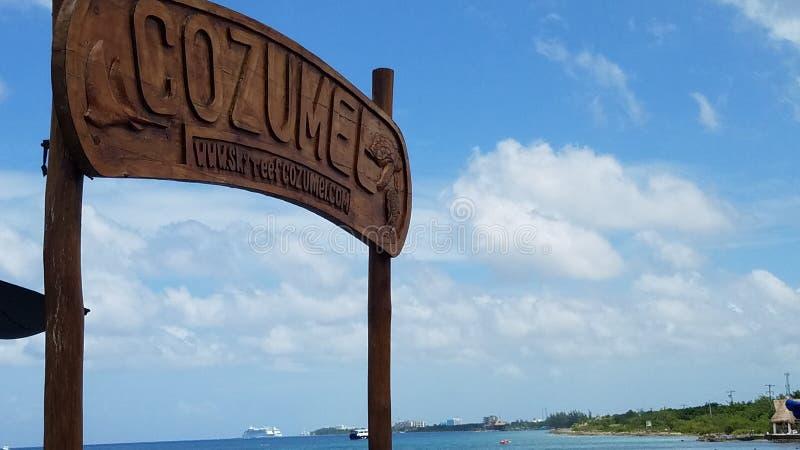 plażowy cozumel Mexico obraz royalty free