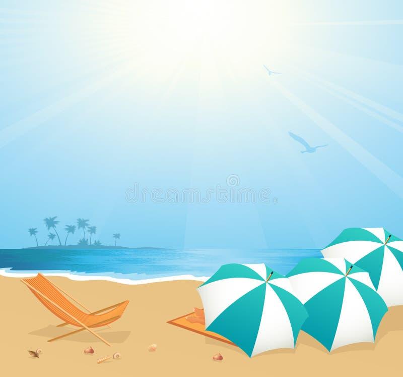 plażowy czas wolny royalty ilustracja
