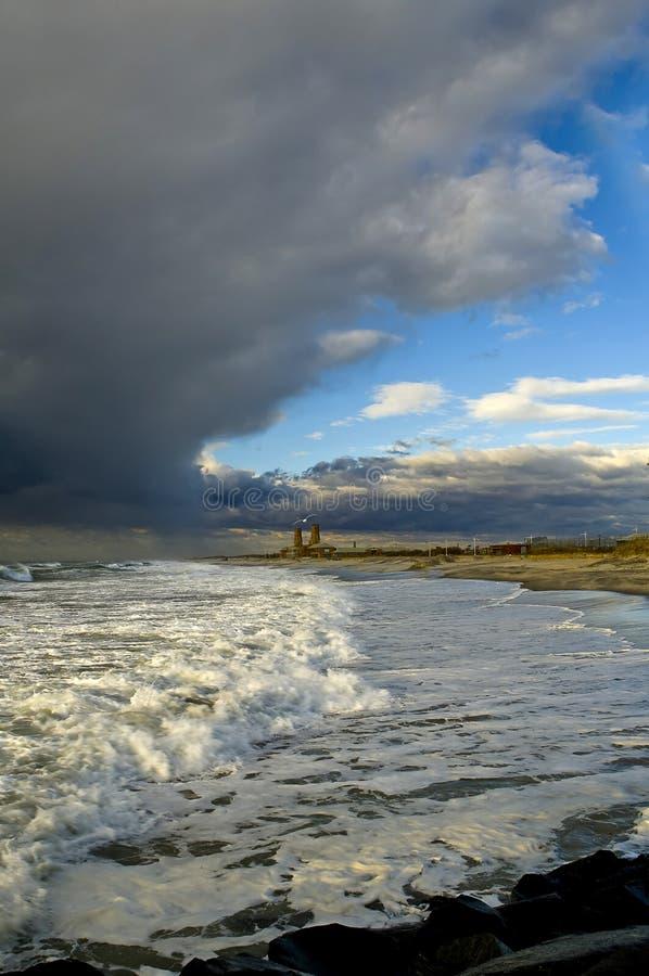 plażowy daleko rockaway obraz stock