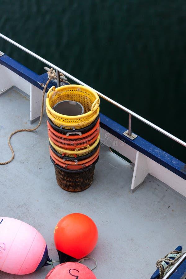 plażowy Danang łodzi rybackich viet nam Orkney, Szkocja obrazy royalty free