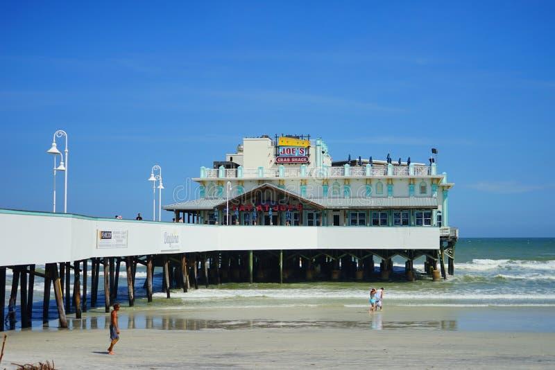 Plażowy Daytona Molo obrazy royalty free