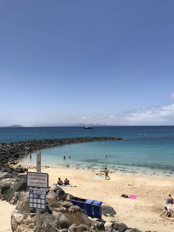 Plażowy denny nieba peoole wakacje obrazy stock