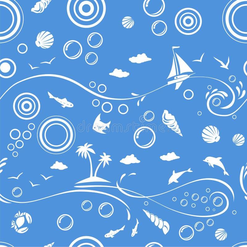 plażowy deseniowy bezszwowy wektor ilustracji