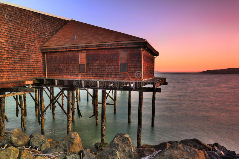 plażowy dom fotografia stock