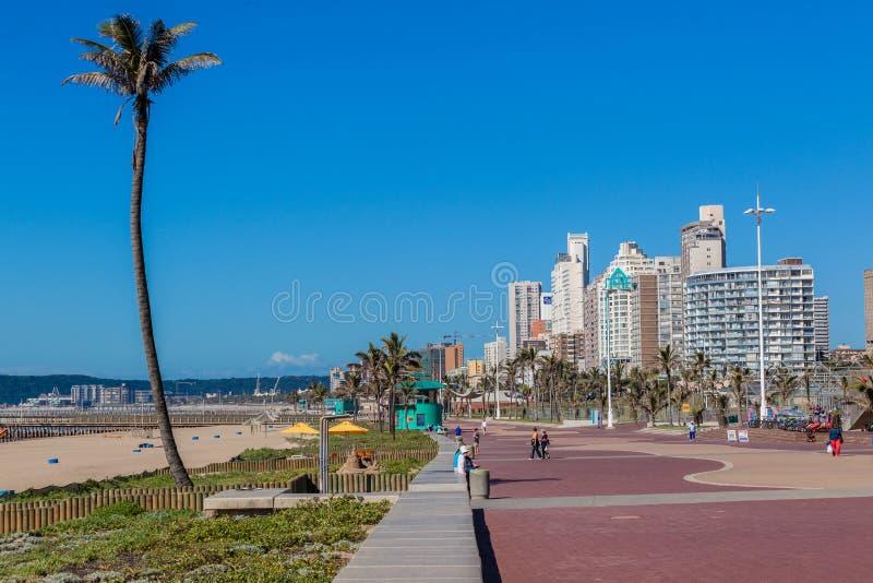 Plażowy Durban deptaka krajobraz zdjęcia royalty free