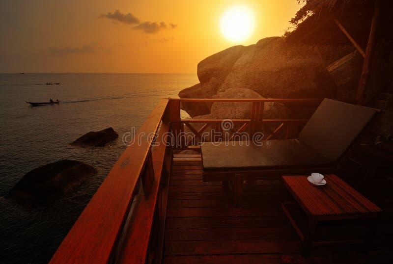 plażowy egzotyczny zmierzch obraz royalty free