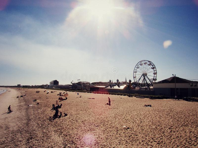 Plażowy Ferris koło obraz stock