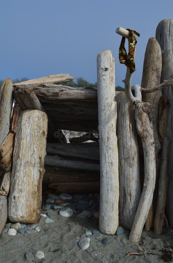 Plażowy fortu wejście fotografia royalty free