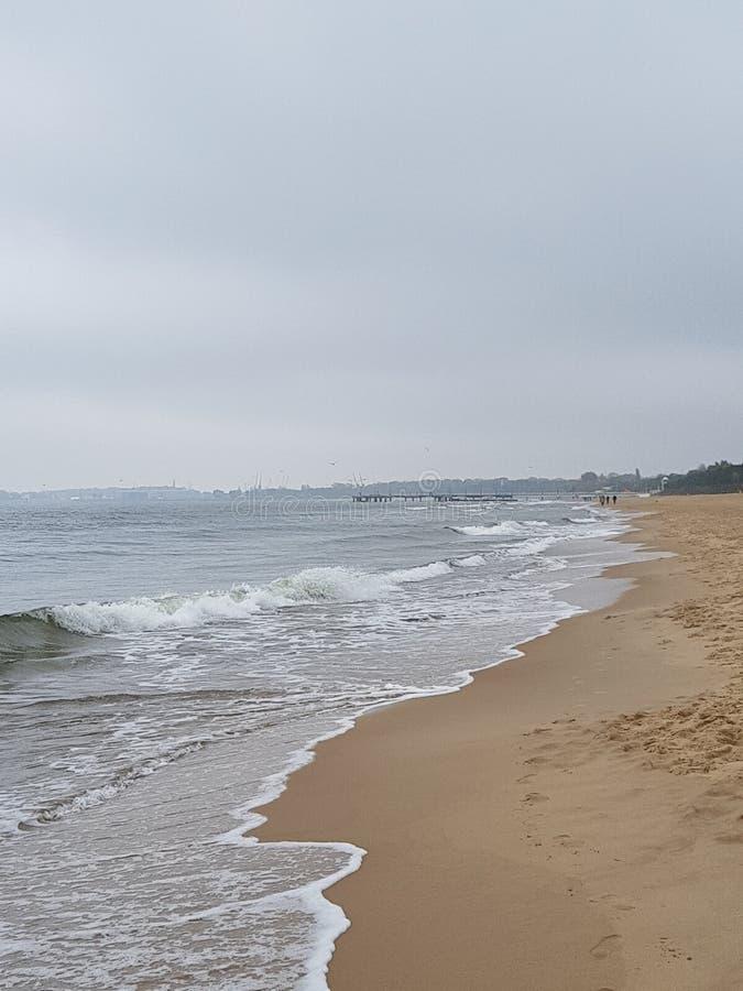 Plażowy Gdański Sopot fotografia stock
