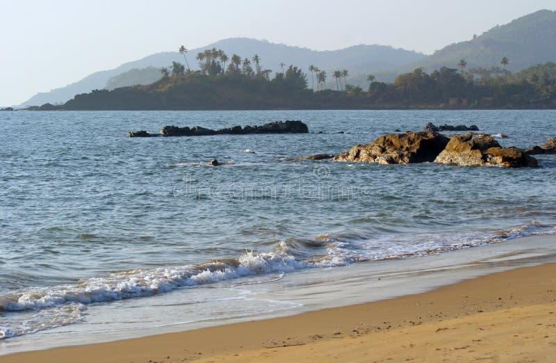 plażowy goa ind palolem fotografia stock