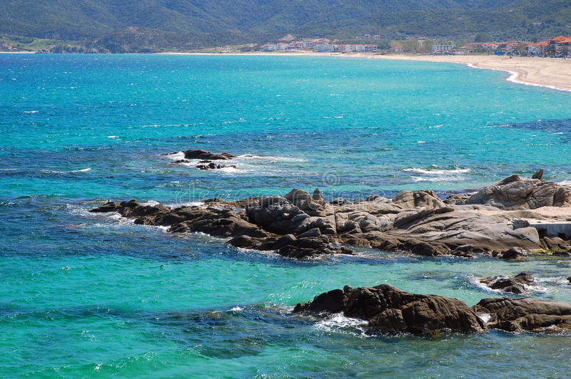 plażowy Greece fotografia royalty free
