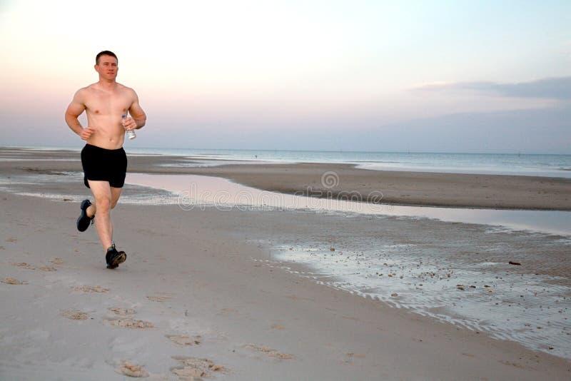 plażowy jogger zdjęcie royalty free