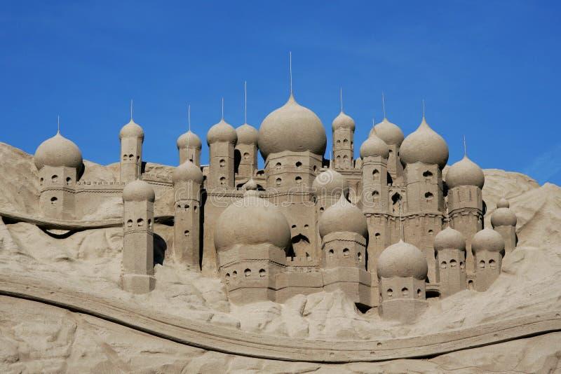 plażowy kasztel zrobił piaskowi target1497_0_ kształt zdjęcie stock
