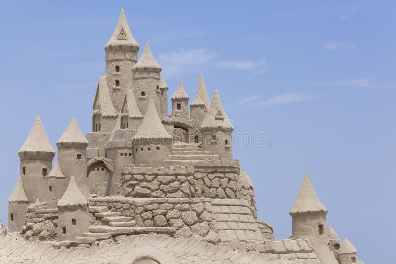 plażowy kasztel zrobił piaskowi target1497_0_ kształt fotografia royalty free