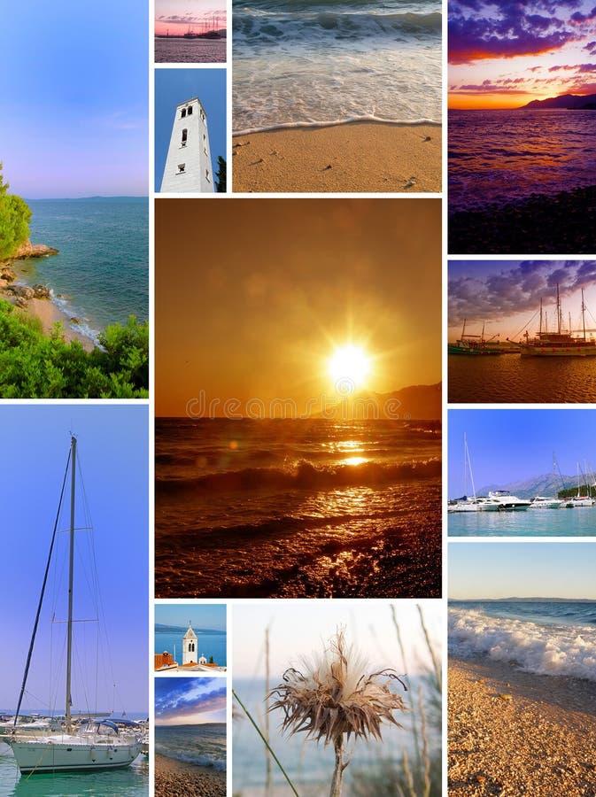 plażowy kolaż fotografia stock