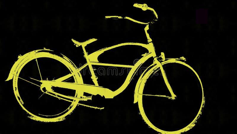 Plażowy krążownika rower zdjęcie royalty free