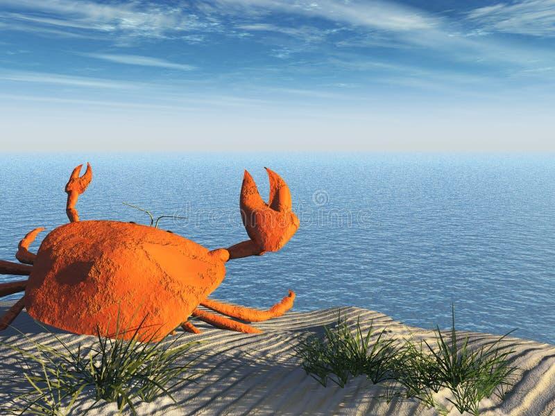 plażowy krab ilustracji