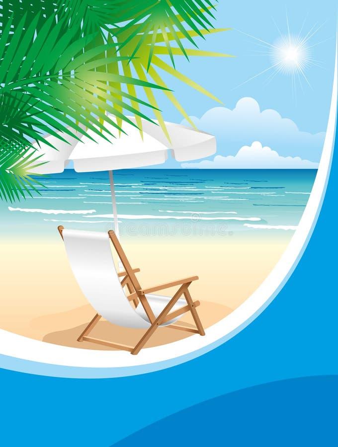 plażowy krzesło royalty ilustracja