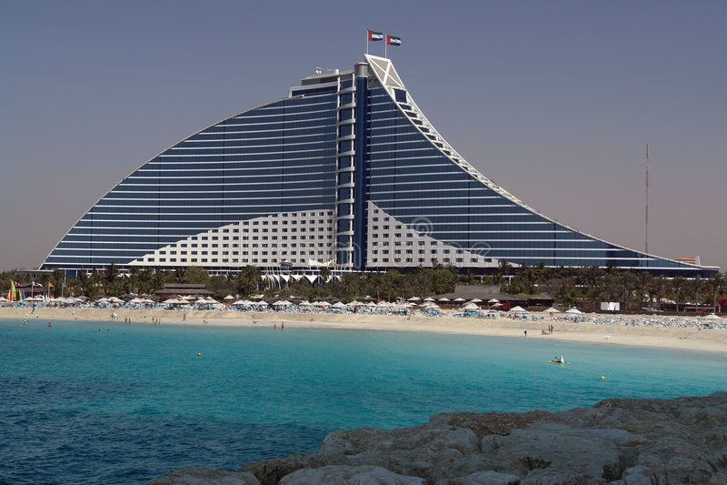 plażowy kurort jumeirah zdjęcia stock