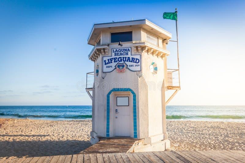 plażowy Laguna ratownika wierza obrazy stock