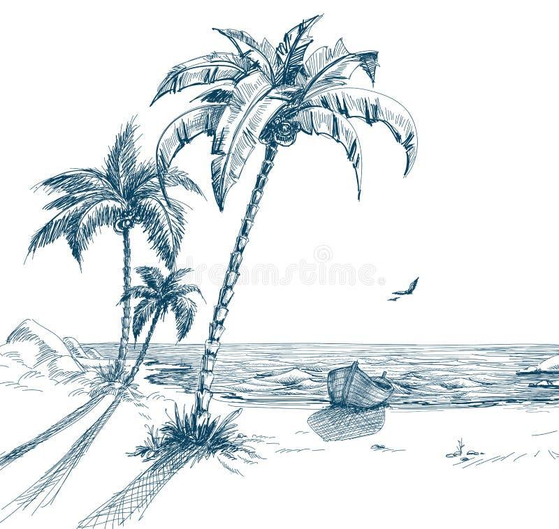 plażowy lato royalty ilustracja