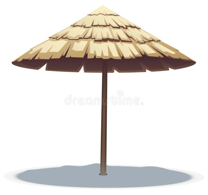 plażowy liść palmy parasol royalty ilustracja