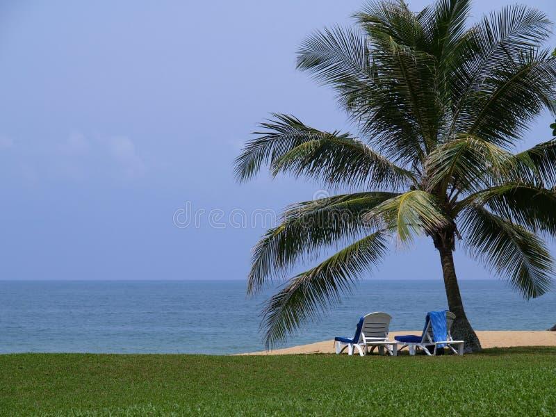 plażowy lounger zdjęcie stock