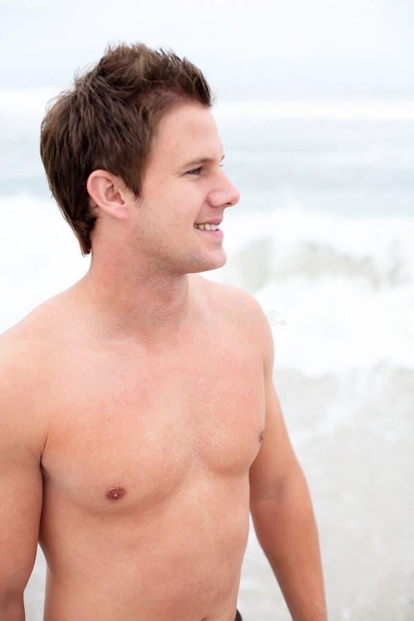 plażowy mężczyzna obrazy stock