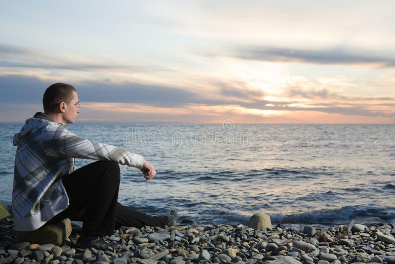 plażowy mężczyzna zdjęcia stock