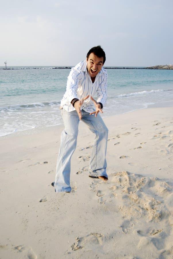 plażowy mężczyzna obraz stock